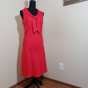 Red sleeveless dress size 8 Sarah Spencer